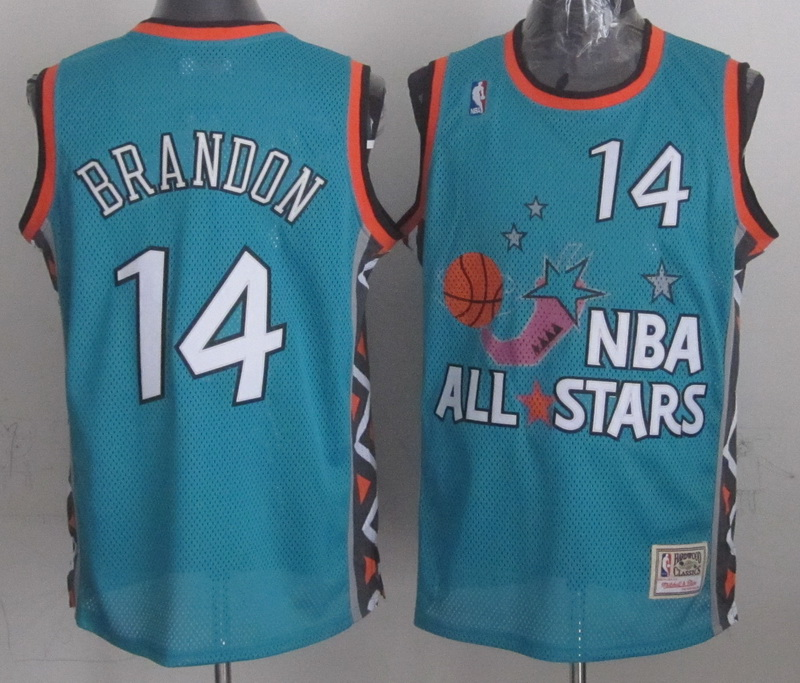 1996 All Star 14 Brandon Teal Jerseys