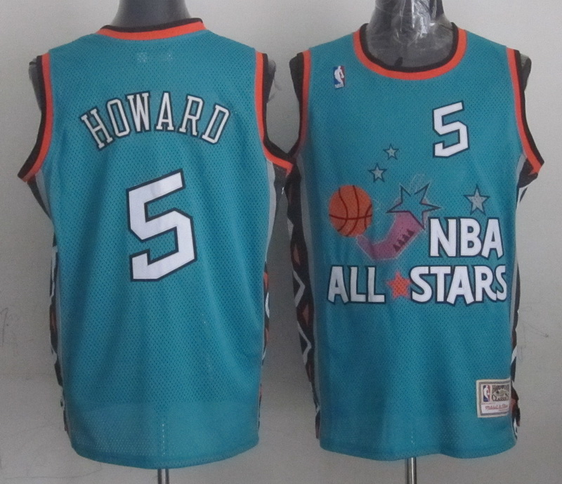 1996 All Star 5 Howard Teal Jerseys