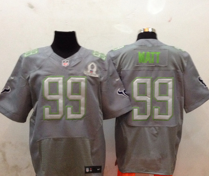 Nike Texans 99 Watt Grey 2014 Pro Bowl Jerseys