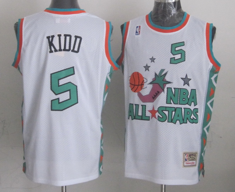 1996 All Star 5 Kidd White Jerseys