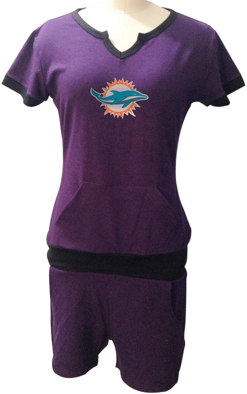 Nike Dolphins Purple Women Sport Suits