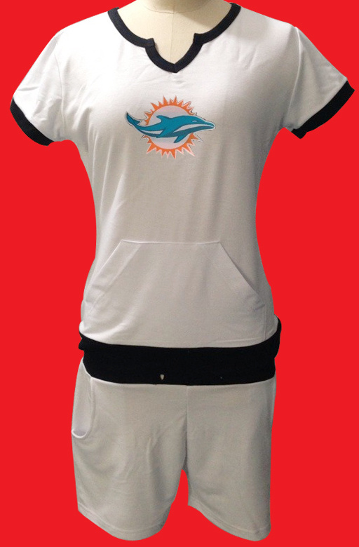 Nike Dolphins White Women Sport Suits