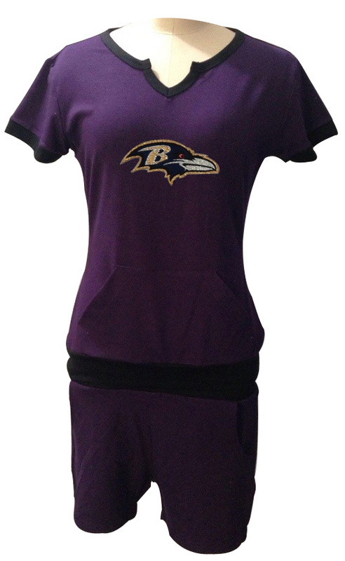Nike Ravens Purple Women Sport Suits