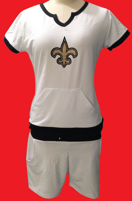 Nike Saints White Women Sport Suits