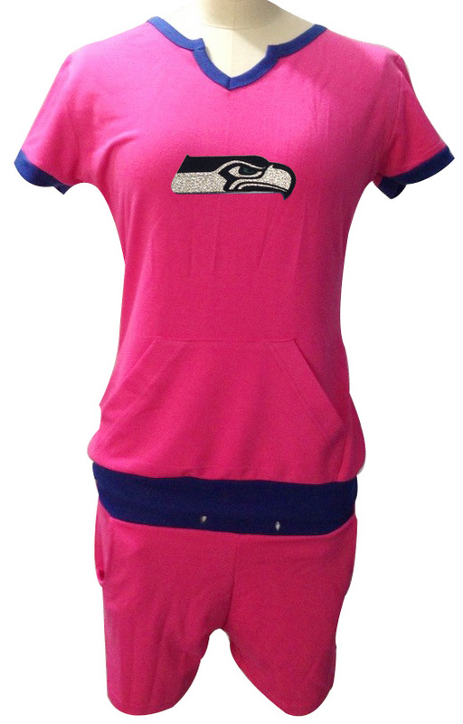 Nike Seahawks Pink Women Sport Suits