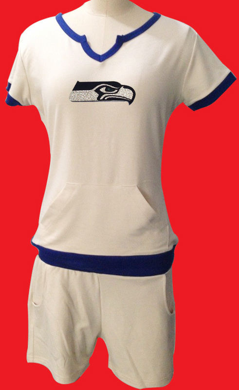 Nike Seahawks White Women Sport Suits