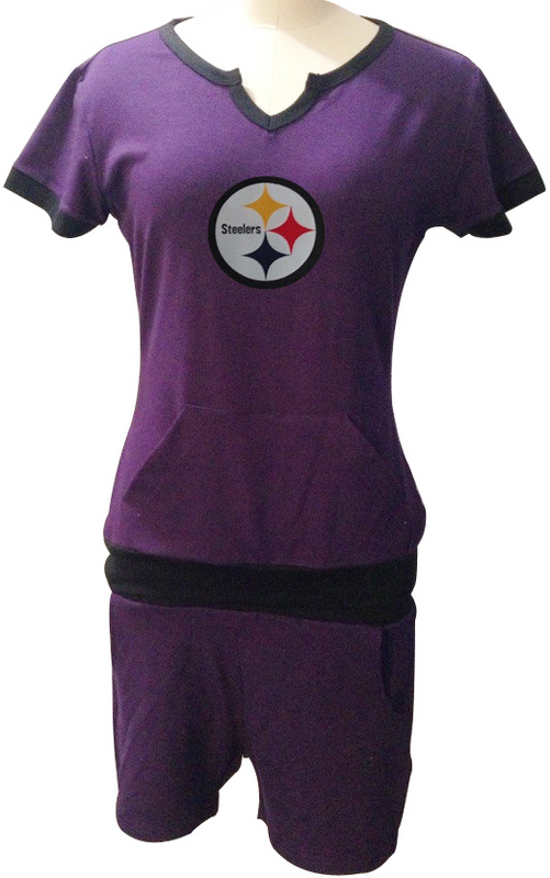 Nike Steelers Purple Women Sport Suits