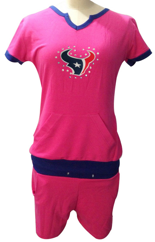 Nike Texans Pink Women Sport Suits