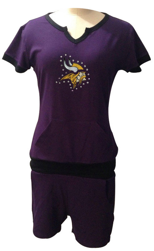 Nike Vikings Purple Women Sport Suits