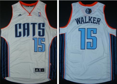 Bobcats 15 Kemba Walker White Revolution 30 Swingman Jerseys