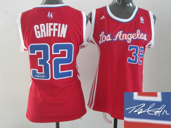 Clippers 32 Griffin Red Signature Edition Women Jerseys