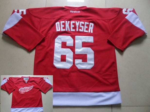 Red Wings 65 Dekeyser Red Jerseys