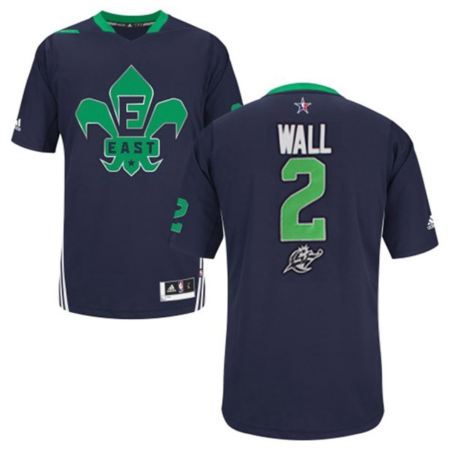 2014 All Star East 2 Wall Blue Swingman Jerseys