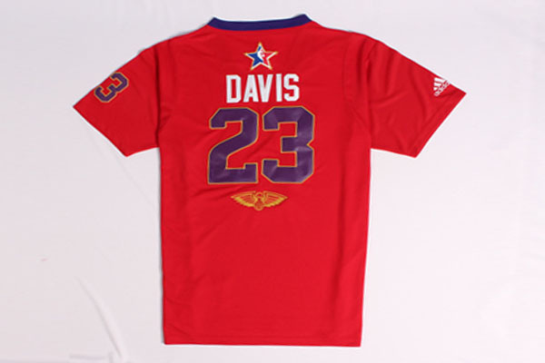 2014 All Star West 23 David Red Swingman Jerseys
