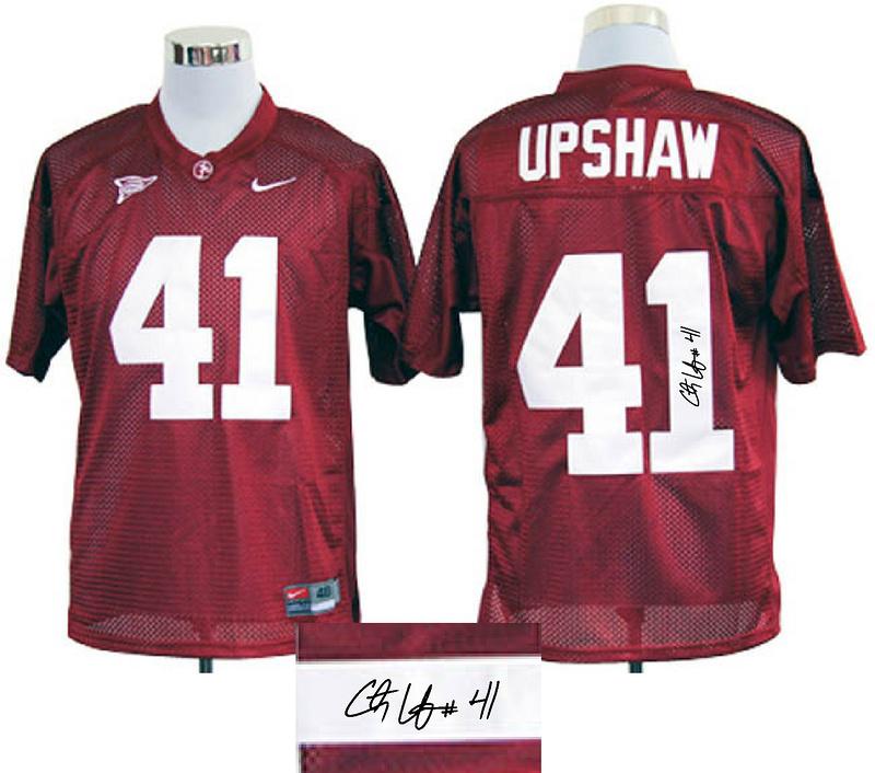 Alabama Crimson Tide 41 Upshaw Red Signature Edition Jerseys