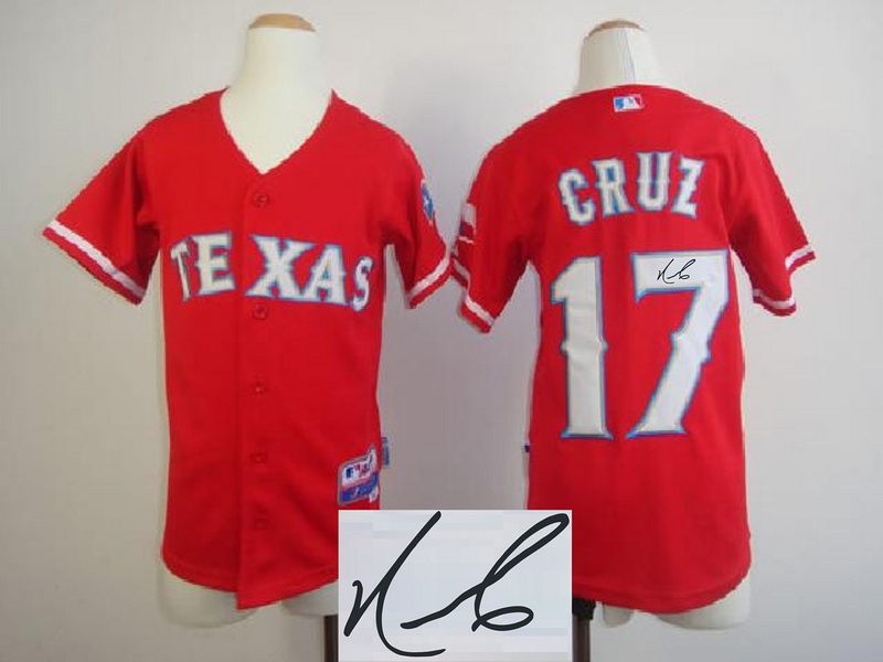 Rangers 17 Cruz Red Signature Edition Youth Jerseys