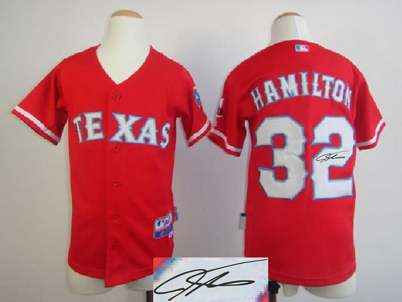 Rangers 32 Hamilton Red Signature Edition Youth Jerseys