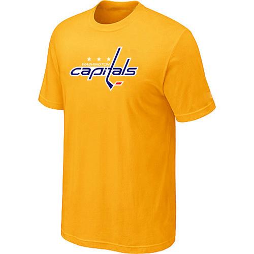 Washington Capitals Big & Tall Logo Yellow T Shirt
