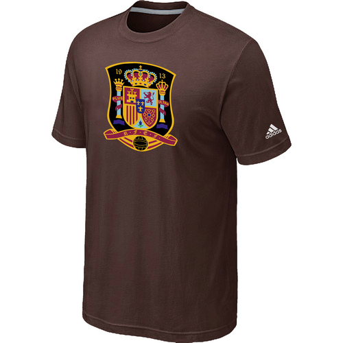 Adidas National Team Spain Big & Tall Men T-Shirt Brown