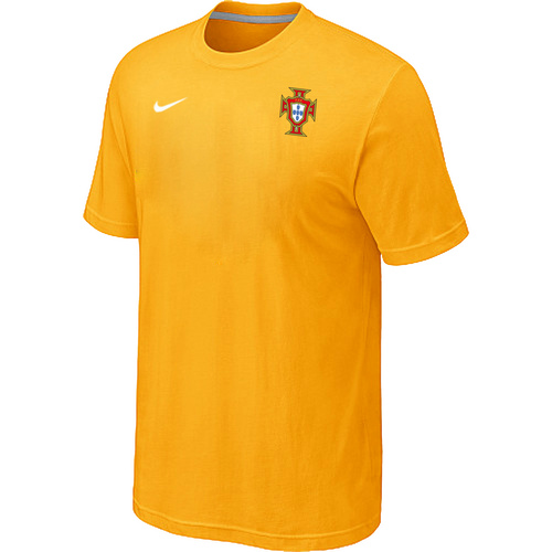 Nike National Team Portugal Men T-Shirt Yellow