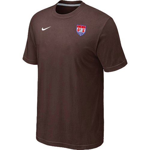 Nike National Team USA Men T-Shirt Brown