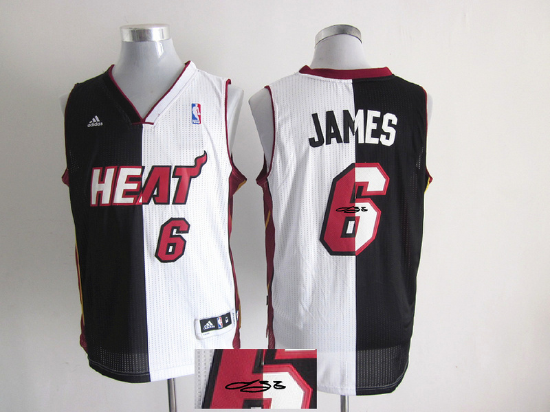 Heat 6 James White & Black Split Signature Edition Jerseys