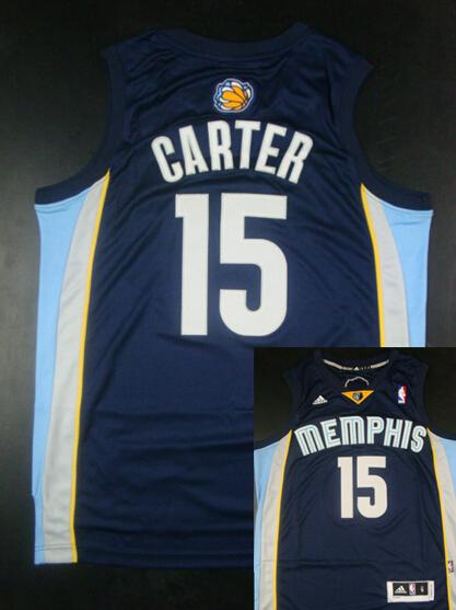 Grizzlies 15 Carter Dark Blue New Revolution 30 Jerseys