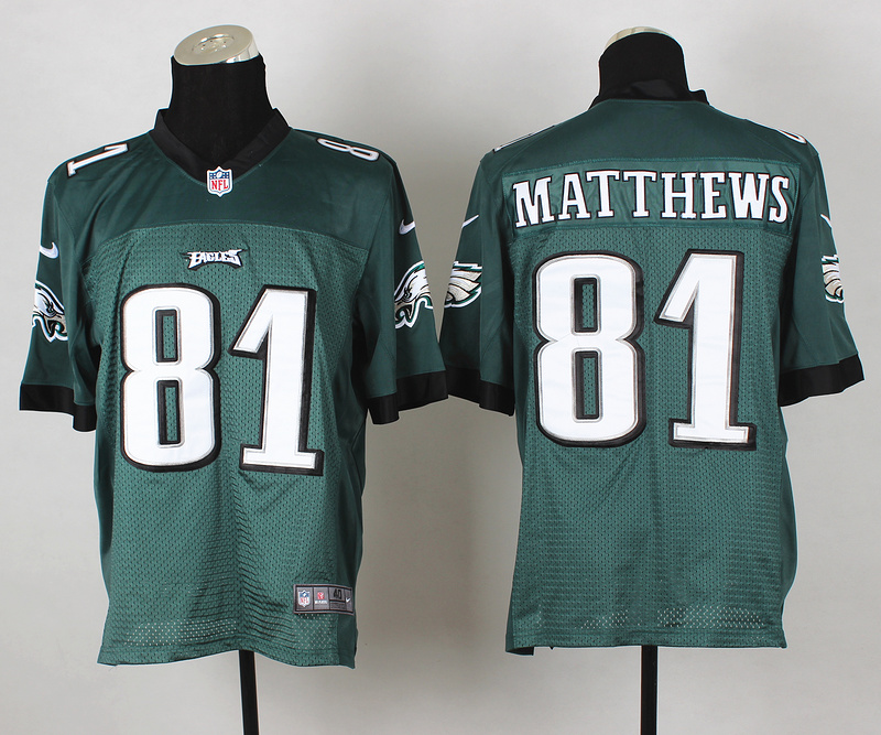 Nike Eagles 81 Matthews Green Elite Jerseys