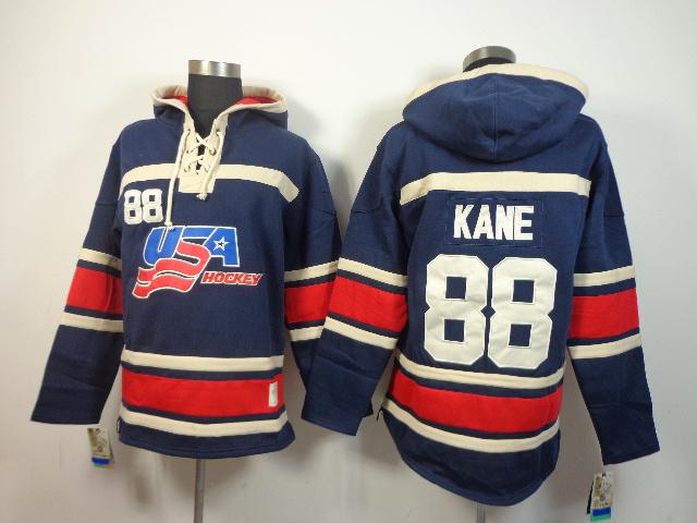 NHL USA 88 Kane Blue Hoodies