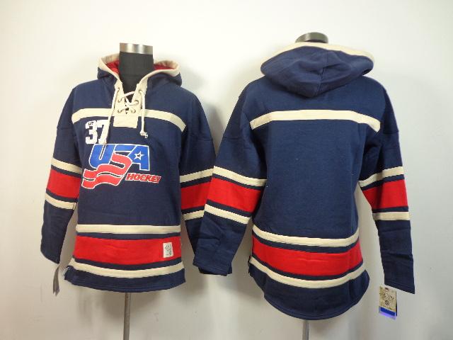 NHL USA Blank Blue Hoodies